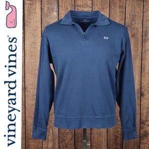 Blue Quarter Zip Pullover men's